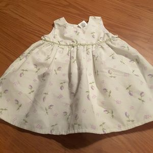 Youngland green and lavender floral dress size 18m